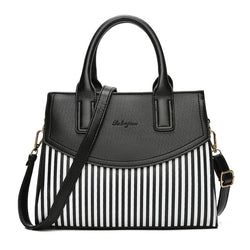 PU Leather Striped Crossbody Bags