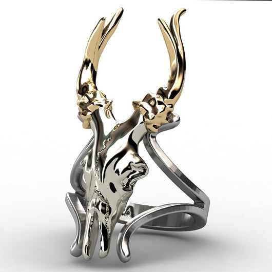 Two Tone Party Deer Rings