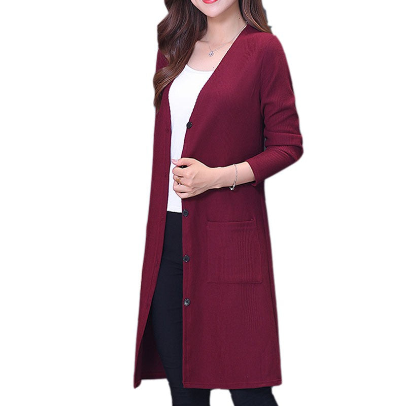 Knitted Cardigan Winter Jacket Loose Plus Size