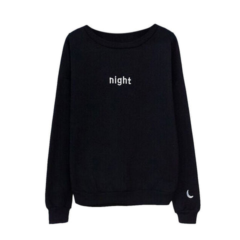 Image of Harajuku Letters Day & Night Long Sleeve Hoodies