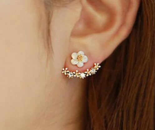 Women Several Peach Blossoms Earrings