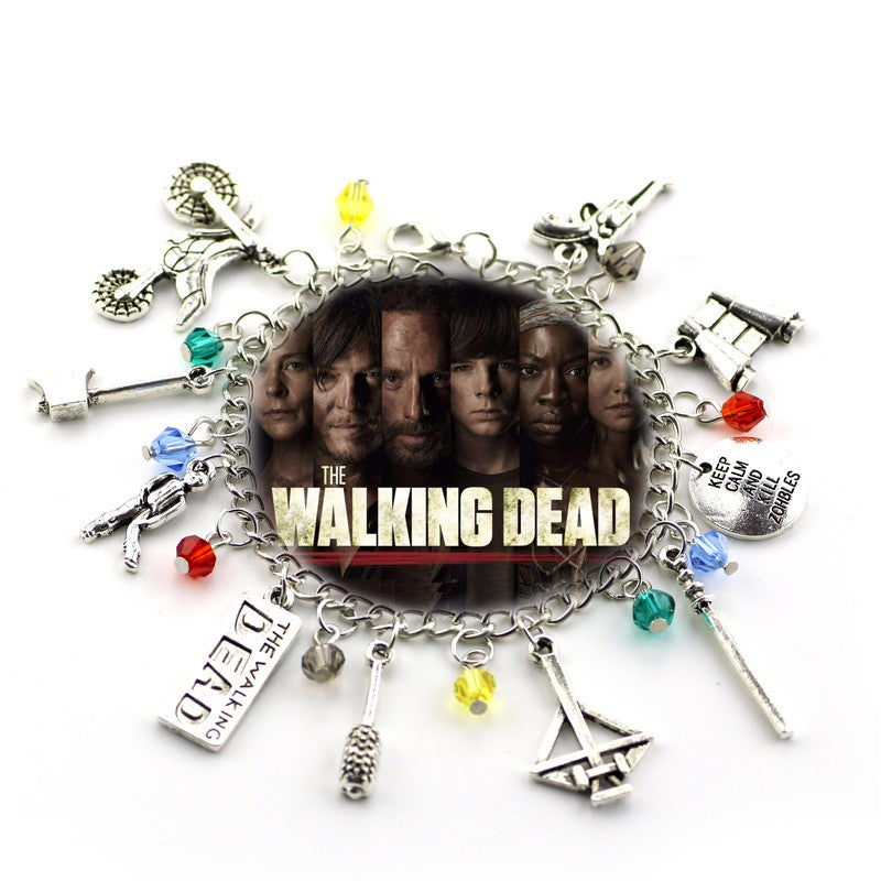 The Walking Dead Zombie Survival Horror Charm Bracelet