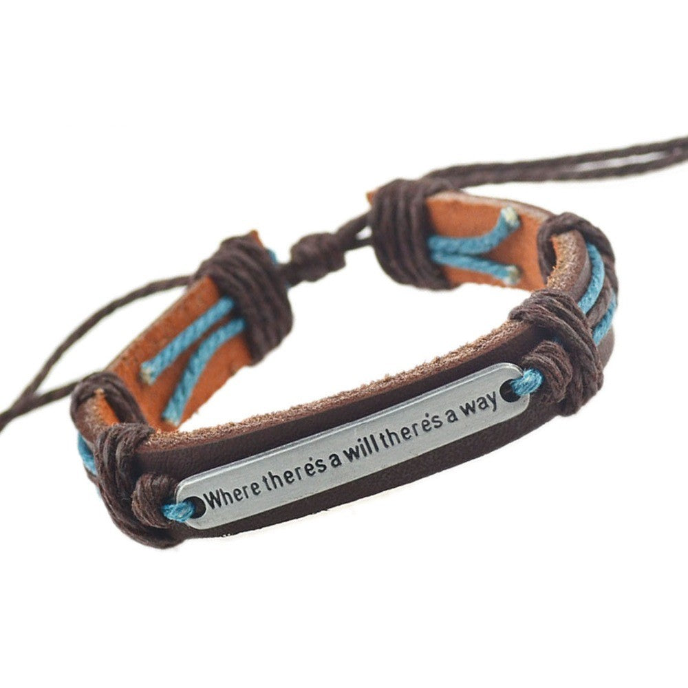 Where There is a Will There is a Way Leather Bracelets