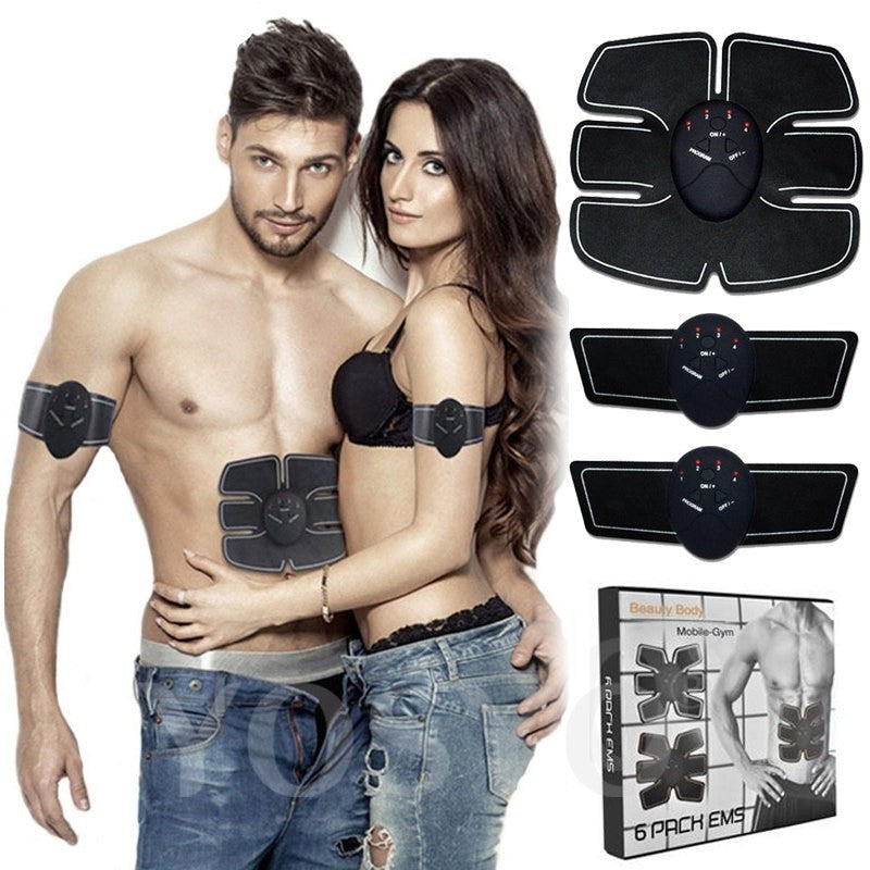 Smart EMS Electric Pulse Treatment Massager Abdominal Muscle Trainer Wireless Sports