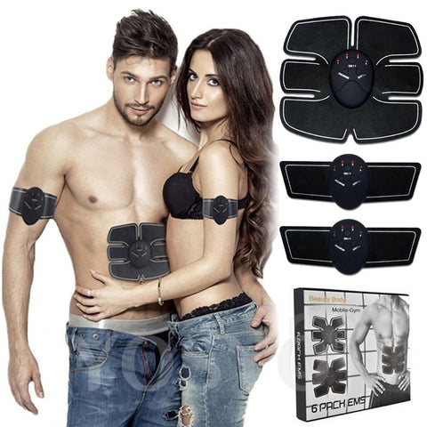 Image of Smart EMS Electric Pulse Treatment Massager Abdominal Muscle Trainer Wireless Sports