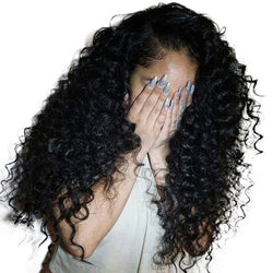 Deep Curly Lace Front Human Hair Wigs For Women