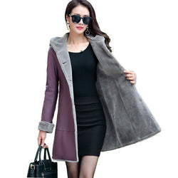 Women Winter Leather Jacket