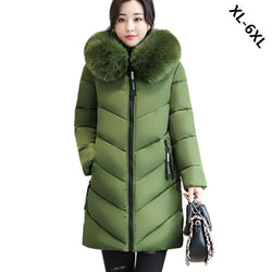 Women Winter Thick Warm Hooded Parkas