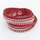 Unisex Rivet Vintage Leather Christmas Gift Charm Bracelets