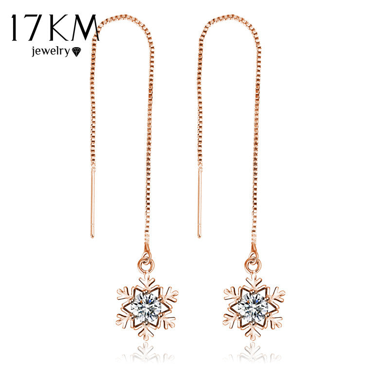 Wedding Punk Star Moon Long Tassel Dangle Earring
