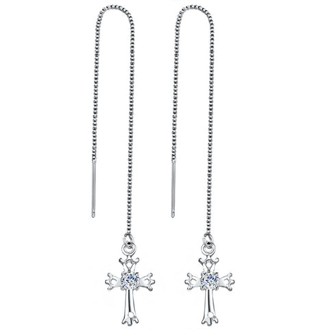 Image of Wedding Punk Star Moon Long Tassel Dangle Earring
