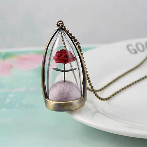 The Little Prince's Rose Necklace