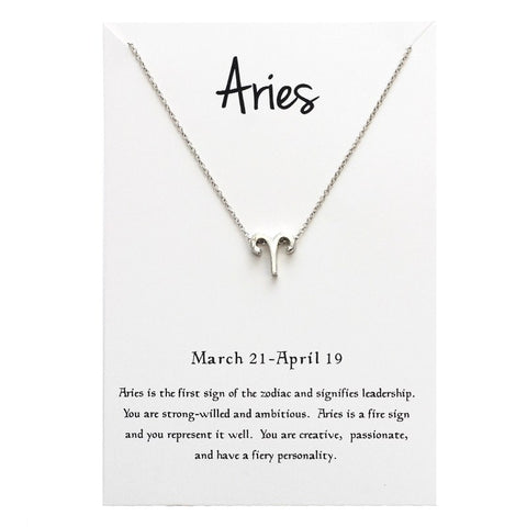 12 Constellation ARIES Necklaces For Women