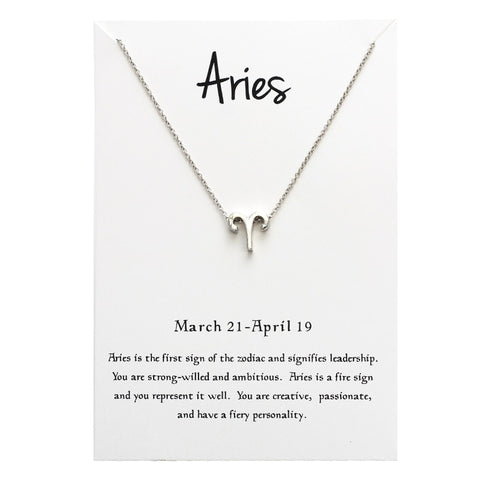 Image of 12 Constellation ARIES Necklaces For Women
