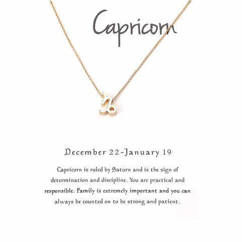 Image of 12 Constellation Capricorn Necklaces For Women