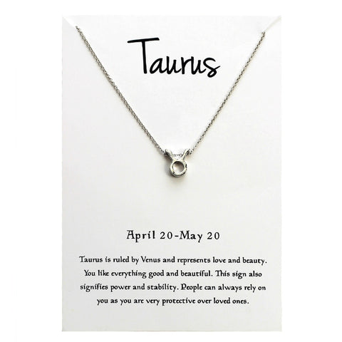 Minimalist 12 Constellation TAURUS Necklaces For Women