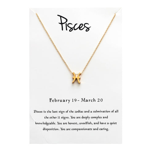 Zodiac Constellation Pisces Signs Necklaces