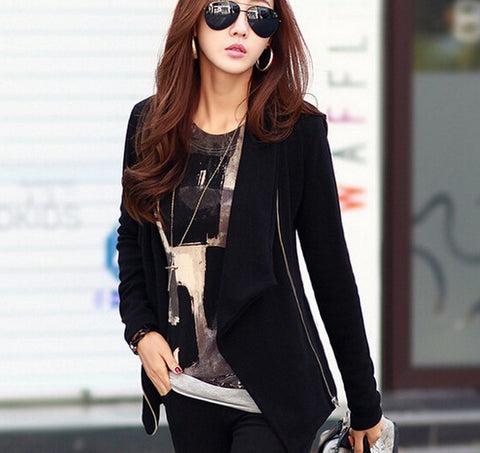 Image of Women Long Sleeve Korean Style Jackets