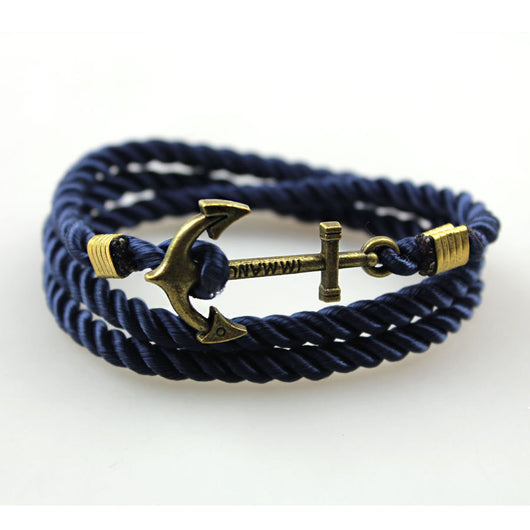 Friendship Vintage Anchor Leather charm Bracelets & Bangles