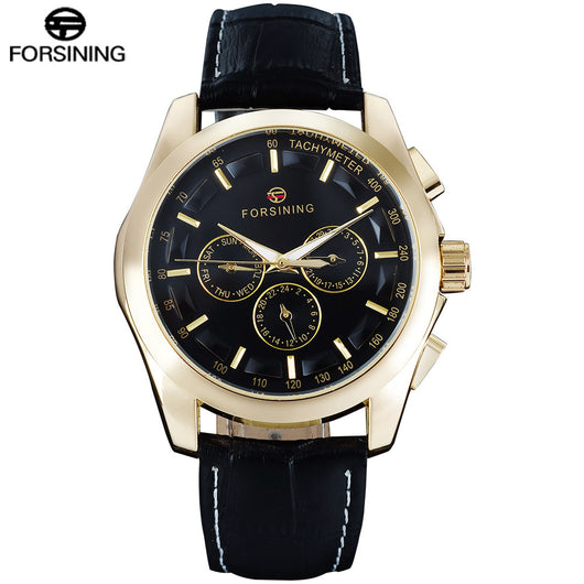 FORSINING Tachymeter Display Business Wristwatch
