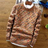 Slim Fit Long Sleeve Thick Sweater