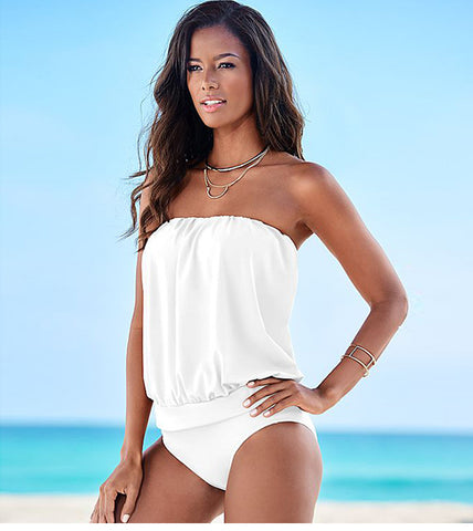 Image of One Piece Tankini Plus Size Swimwear