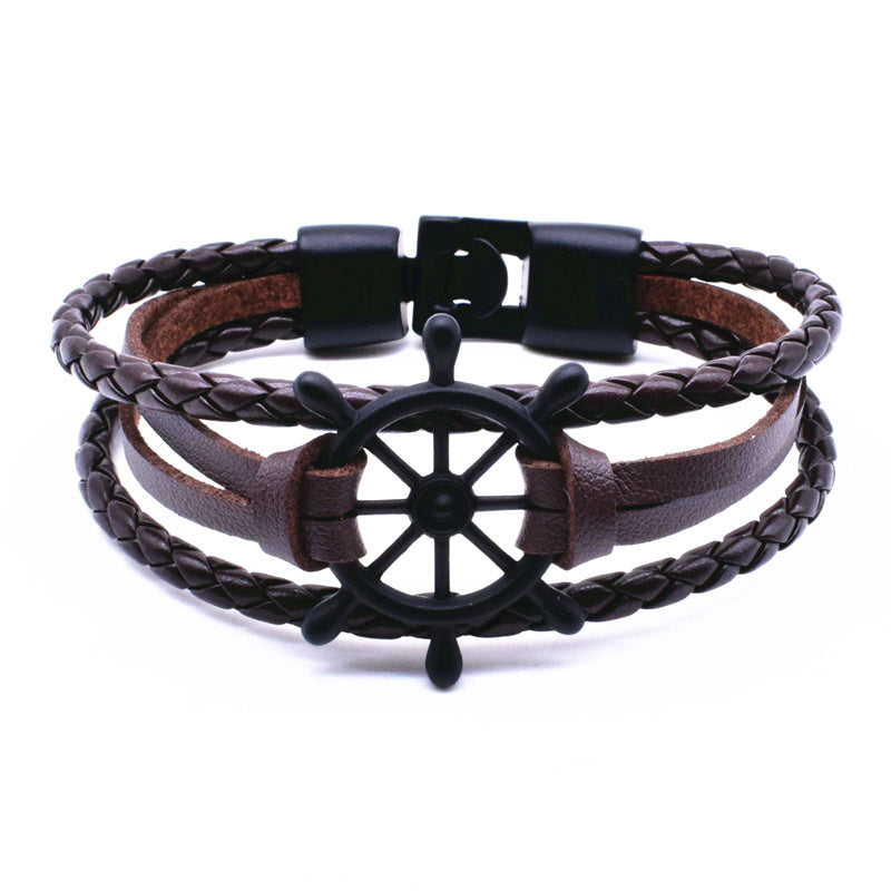 Punk Rudder Anchor Bracelet Best Love Navigation Gifts