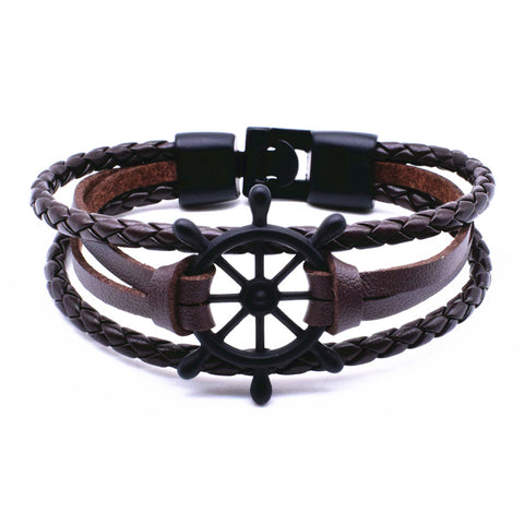 Image of Punk Rudder Anchor Bracelet Best Love Navigation Gifts