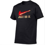 JUST DO IT 3D Cartoon Hip Hop Letter Short Sleeve