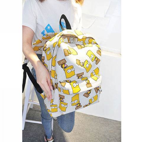 Image of Women School Pretty Canvas Backpack