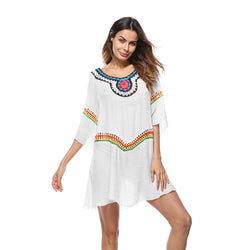 Rayon Embroidery Beach Cover Ups