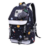 Emoji Geometric Japan Ring Backpack