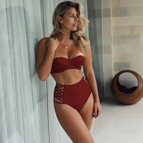 High Waist Women Swimwear