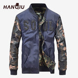 Hip Hop Camo Military Bomber Jacket