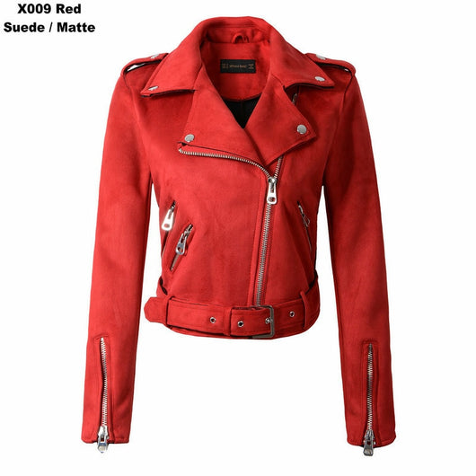 England Style Suede Faux Leather Motorcycle Jackets