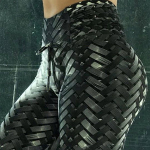 Weaving Tie Push Up Workout Leggings