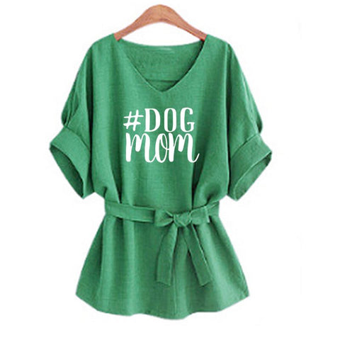 Image of DOG Mom Print T-Shirt