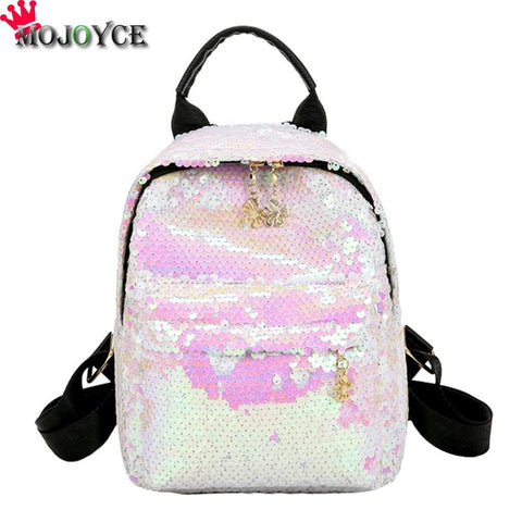 Women Sequins PU Leather Backpack