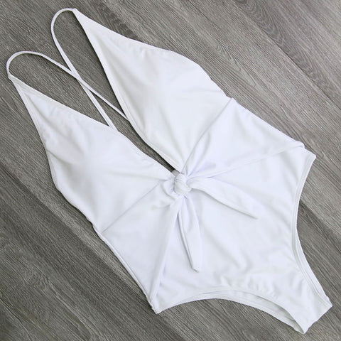 Image of Halter Cross Bathing Suits