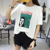 Harajuku Personality Printed Short-sleeved Students Top