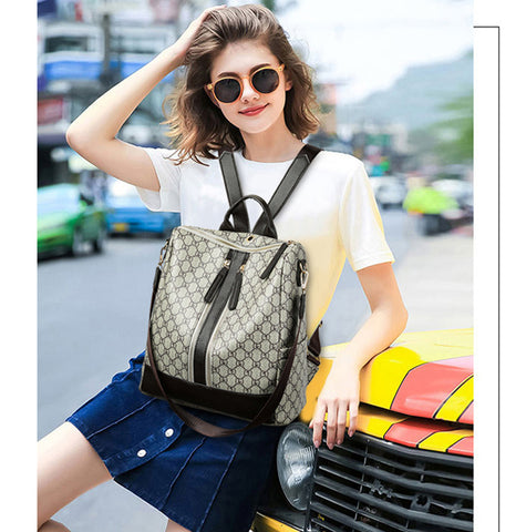 Fashion Zipper Ladies Backpack