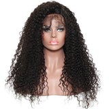 250% Density Brazilian Curly Human Hair Wigs Full Ends Lace Front Wigs For Women