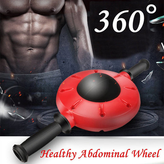 360 Degrees All Dimensional Abdominal Wheel No Noise Ab Roller Muscle Trainer