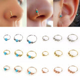3Pcs Retro Round Beads Nose Ring