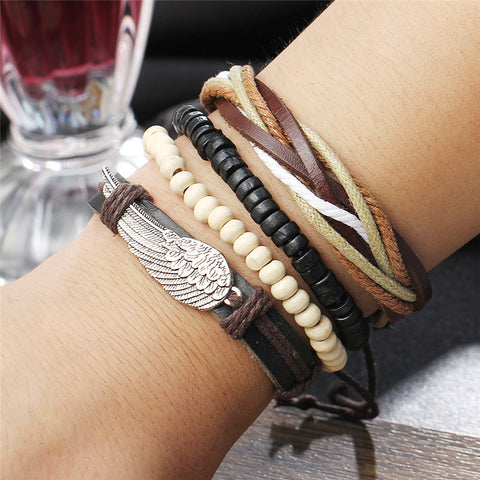 Image of Turkish Wing Leather Bracelets