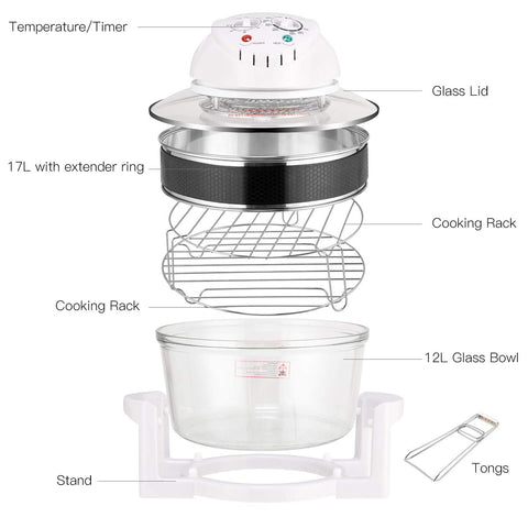 Image of Infrared Halogen Convection Oven with Stainless Steel Extender Ring