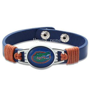 Florida Gators Genuine Leather Bracelet