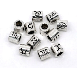 Zodiac Spacer Beads Fit Charm Bracelet