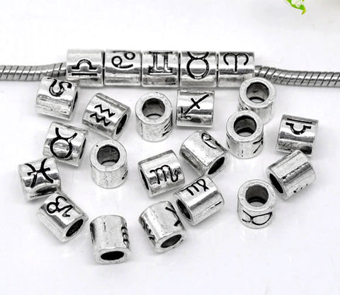Image of Zodiac Spacer Beads Fit Charm Bracelet