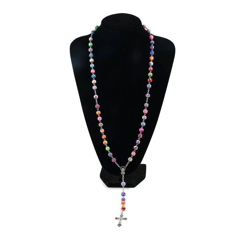Virgin Mary Cross Rosary